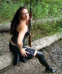 woman with ithaca shotgun