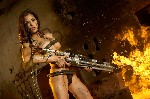 girl with flamethrower