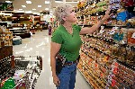 Woman shopping while carrying a 1911