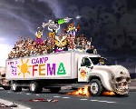 Convoy to camp FEMA