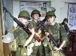 Female Russian soldiers