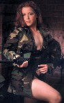 woman wearing camo with m16