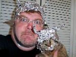tin foil hat and cat