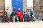 group of old men talking